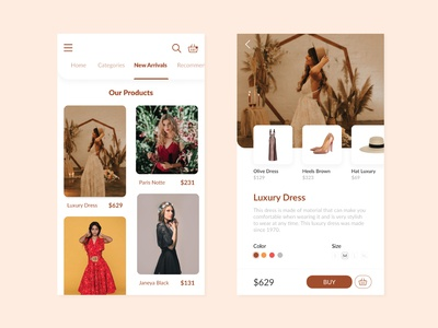 Fashion App Design - UI Design
