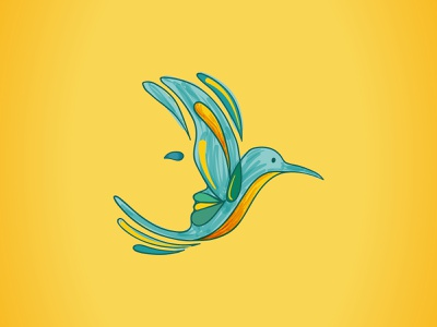 Eleni Kazantzaki Psychologist mental health bird face mind marca símbolo logomarca ilustração beijaflor beija-flor hummingbird colibri branding psychology psicologia logo psi illustration graphic design design gráfico
