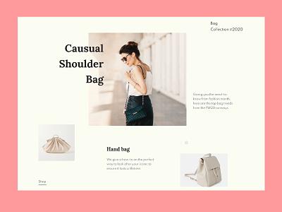 Fashion Landing page website design desktop interface minimal website clean ecommerce landing page style fashion