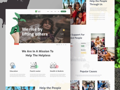 Charity Nonprofit Website landing website landing page social organization fundraising foundation donations donate charity
