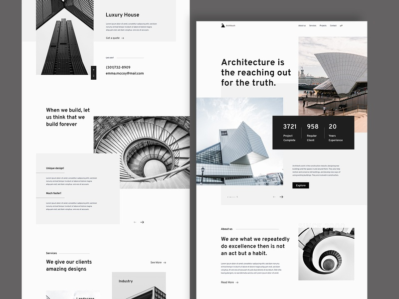 Architecture - Architouch website