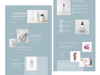 Beauty Store | Ladies Product hair saloon spa landing page cosmetics website cosmetic beauty product website card app beauty product beauty