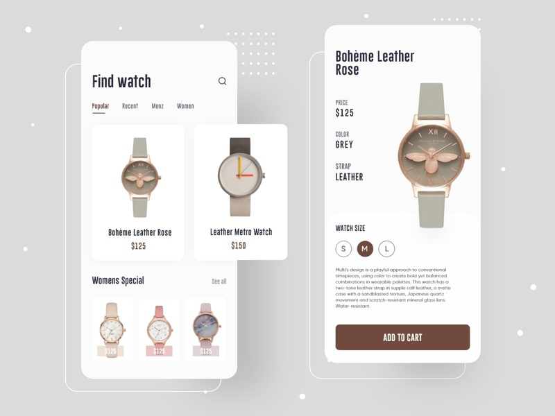 eCommerce mobile app store shopping cart shopping online shop iphone ux ui mobile design watch branding shop ecommerce app ecommerce app
