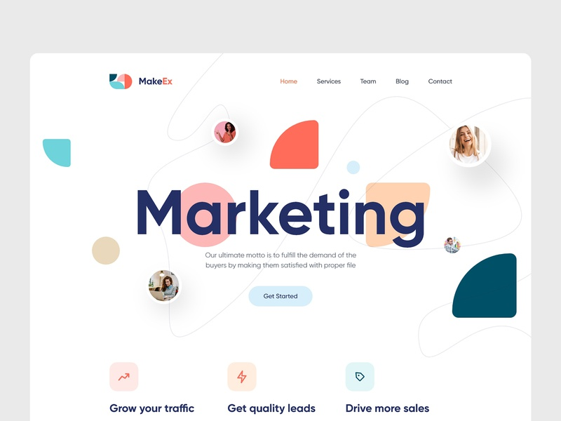 Marketing Agency Website food ux ui seo digital marketing product design web design minimal creative marketing website marketing landing page marketing colorful agency website agency landing page
