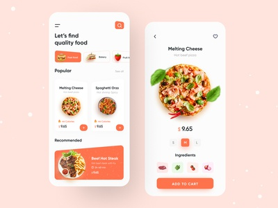 Food App | Food Delivery ux ui app ui app design minimal ios app design 2020 ui trends burger pizza fast food rakib grocery food order food delivery service food delivery application food delivery app food delivery food app food and drink