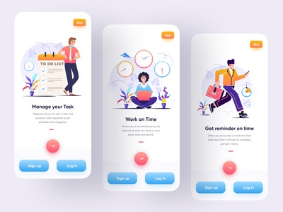 Task management on boarding onboarding mobile design ux ui to do list todo list todo app task manager task management app task list task app reminder reminder app product design minimal management management app ios app design app ui app design 2020 trend