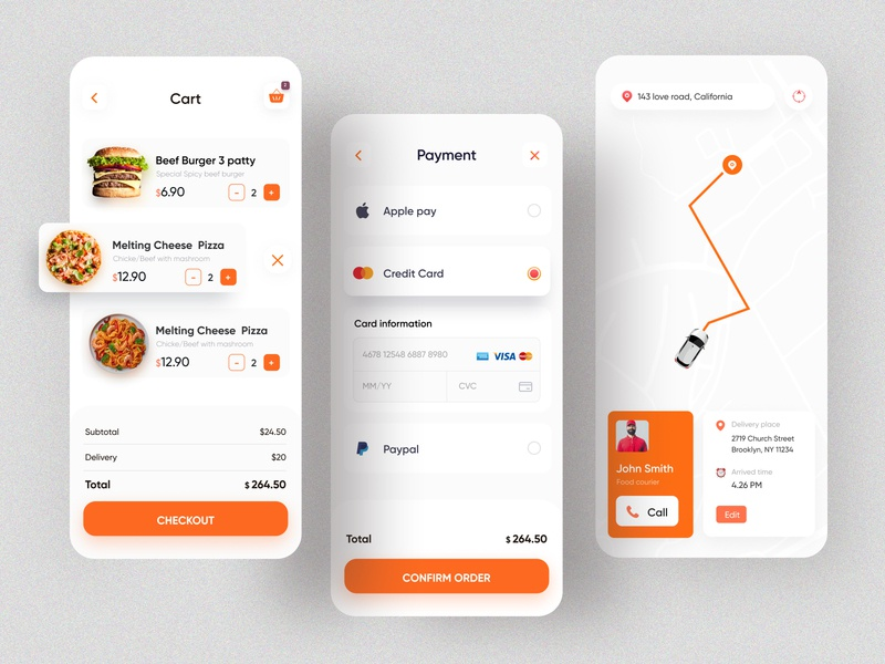 Food Delivery App | Restaurant App restaurant app rakib grocery food ordering food order food delivery service food delivery application food delivery app food delivery food app food and drink ux ui app ui app design minimal ios app design 2020 ui trends