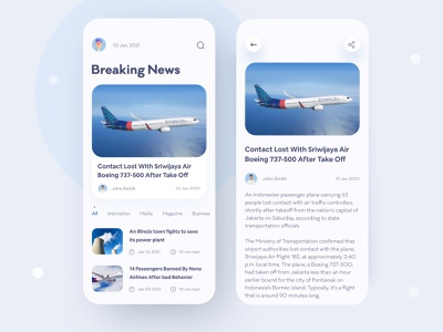 News App Design UI/UX business travel 2021 trend newspaper article design reading trending ui uiux indonesia trending news ux ui news mobile app article news news app blog article app blog app