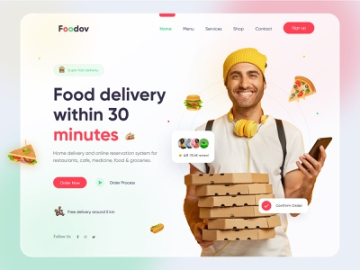 Food Delivery Website UI/UX Design delivery service web design 2021 trends delivery landing page delivery website food delivery website groceries grocery store online shop user experience grocery delivery food delivery website design ui ux uiux