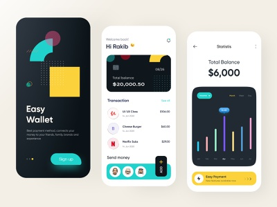 Wallet App Design money app wallet ux ui online banking money transfer mobile banking ios app design financial finance app finance wallet app bank app banking app banking app design 2021 trend