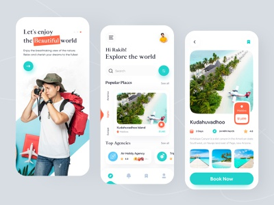Travel Mobile App Design 2021 trend clean minimal zomo user interface mobile app design uiux ui design app design tour app trip planner trip traveling travel app travel agency travel hotel booking flight booking booking app