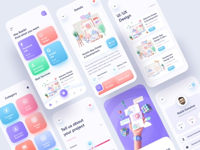 Digital Agency App (Full) agency app popular user experience ui design ecommerce app company app mobile app digital agency app personal agency app clean ux ui marketing app marketing digital agency
