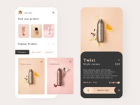 Beauty product app UI