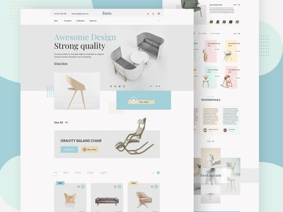 Furniture e-Commerce Website | Landing Page