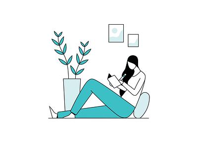 Balance App: Relaxation Illustrations flat relaxation meditation app meditation minimal vector app design illustration