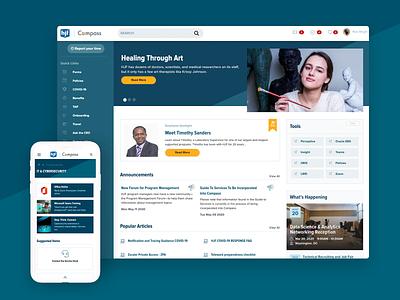 Henry Jackson Foundation Intranet Service Portal Design portal intranet employee portal serviceportal employee experience ux ui service portal servicenow