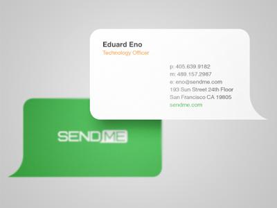 SendMe business cards business cards logo bubble identity branding message