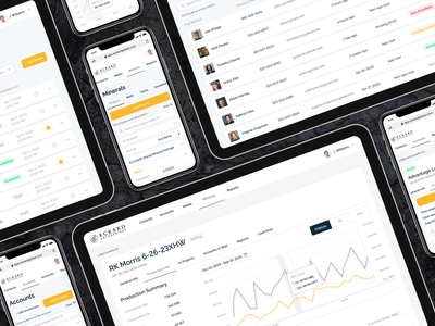 Eckard. CMS for oil and gas investment project cards tabs gas oil database table chart data minerals investment finance cms mobile desktop web user interface figma design ux ui