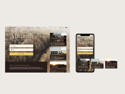 Autumn minimal app website web design ux ui