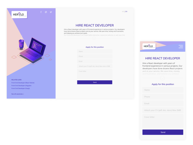 Landing app website web minimal design ux ui