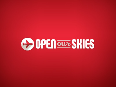 Open Our Skies Promo Site Logo icon red minimalism logo airline