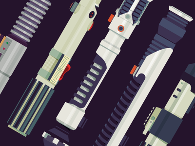 Lightsabers Vector star wars minimalism lightsabers color