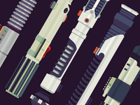 Lightsabers Vector