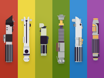#MayThe4thBeWithYou - Free vector and PSD psd free vector rainbow may4th lightsaber starwars