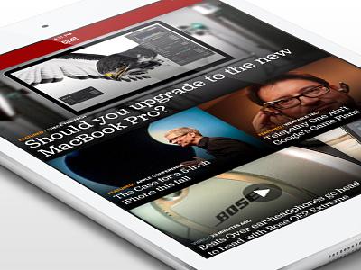 CNET 3.0 iPad Home  ipad news app tech screen cnet