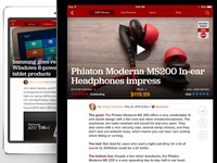 CNET iPad- Reviews & Article page