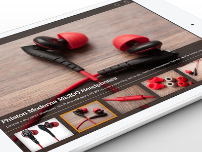 Photo gallery in landscape view design tablet photo gallery ios app photos ipad ui ux overlay