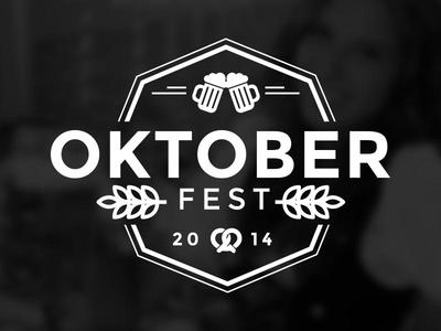Oktoberfest Logo  oktoberfest logo brand identity beer typography vector hipster mark
