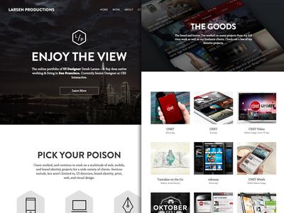 Larsenpro 3.0 - Home portfolio web design design home responsive bootstrap cv html css mobile