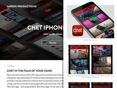 Larsen Productions 3.0 - Work page responsive web design graphic design portfolio cv website design bootstrap