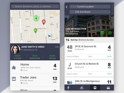 Transportation System App Concept bus android ios commute maps concept blue money transportation ui mobile app