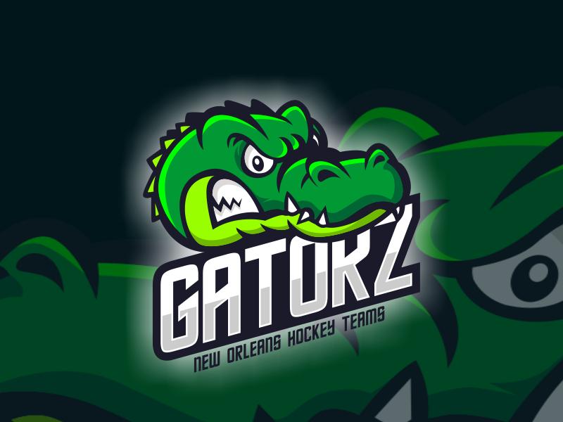 Gatorz namilurihas crocodile alligator esports logo esport sticker character mascot