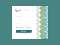 Sign Up - Arabic Style