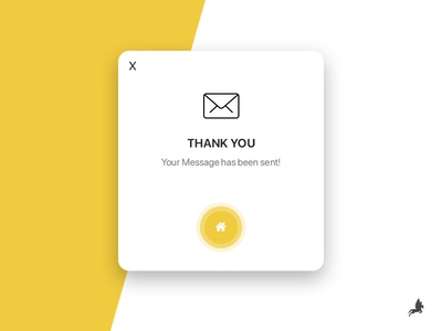 Pop Up - email sent