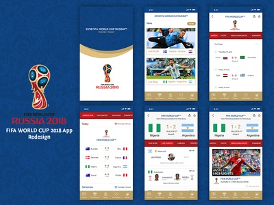 FIFA WORLD CUP APP - Redesign
