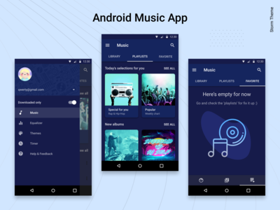 Android Music Player App. The Storm Theme.