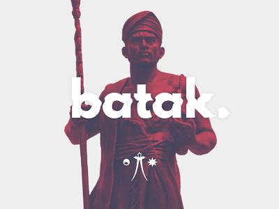 batak logodesign typogaphy