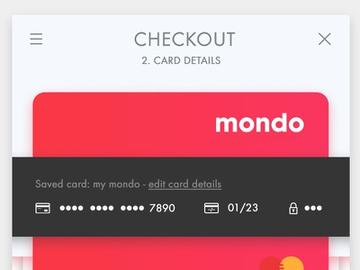 Card checkout 002 ux ui checkout shopping material daily ui credit card mondo
