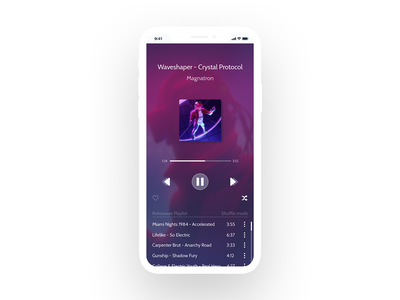 Music Player music player magnatron ux synthwave retrowave clean minimalism interface 009 design dailyui daily