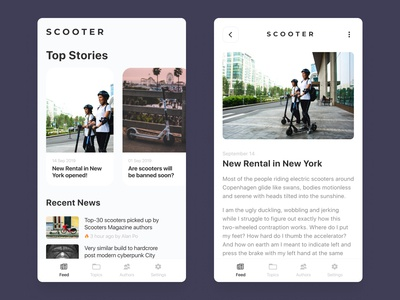 Scooter Magazine: Feed & Content
