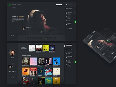 Redesign Spotify music redesign website web design ux ui app spotify