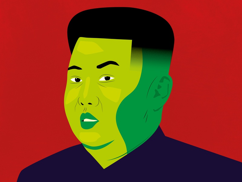 Kimmy fade portrait art portrait dictator illustration north korea kim jong un