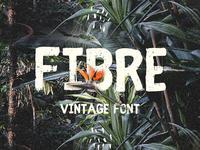 Fibre is a Free Vintage Font
