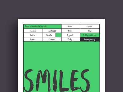 How to make more smilez paper layout interface green poster free font brush font typeface handwritten made lettering