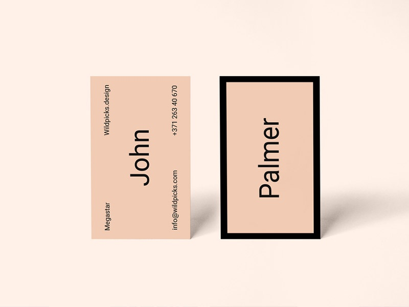 Palmer – Realistic Freebie Business Card Mockup