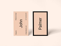 Palmer - Realistic Freebie Business Card Mockup